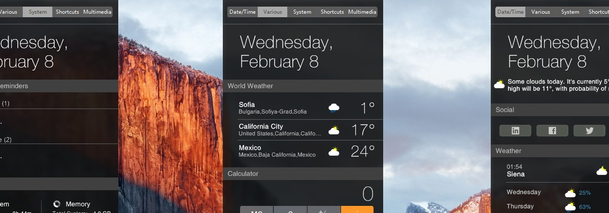 Yosemite Notification Center — центр уведомлений из OS X для XWidget