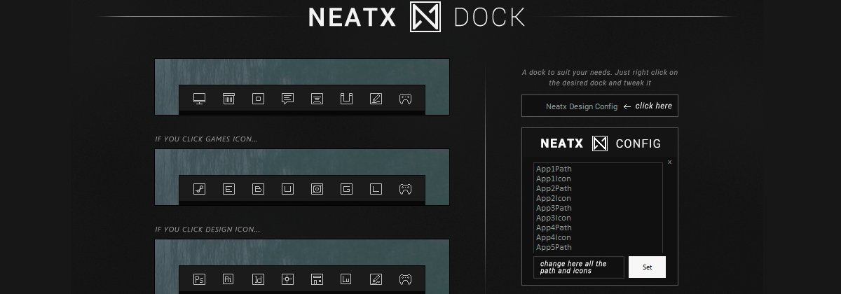 NeatX Dock — стильный док для Windows 10